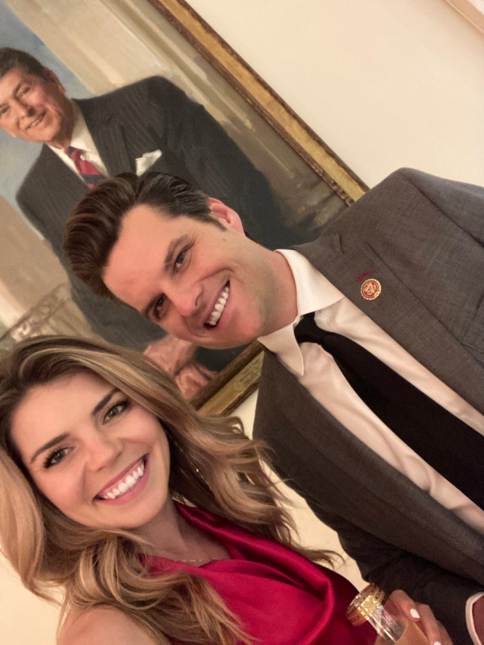 Matt Gaetz proposed to food analyst Ginger Luckey, 26, at President Donald Trump's Mar-a-Lago club in December