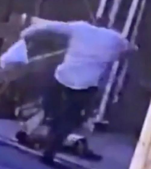 Video shows the man viciously kicking the victim on Monday