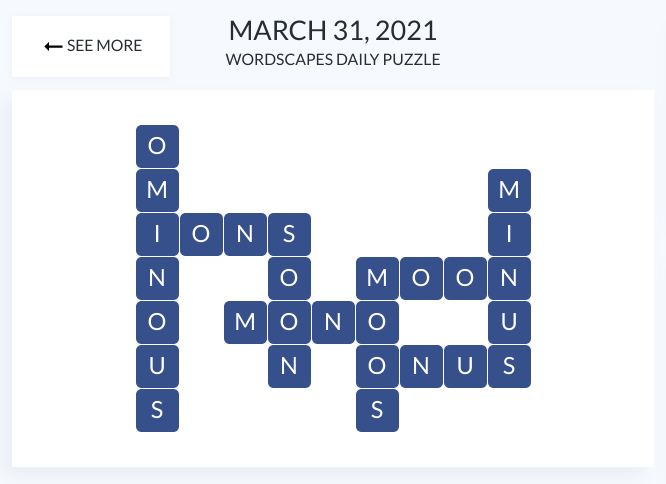 Daily puzzle for March 31