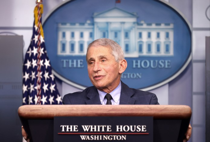 Dr Anthony Fauci said the Covid vaccine in the fight against the virus was the 'best decision I've ever made' (file photo)