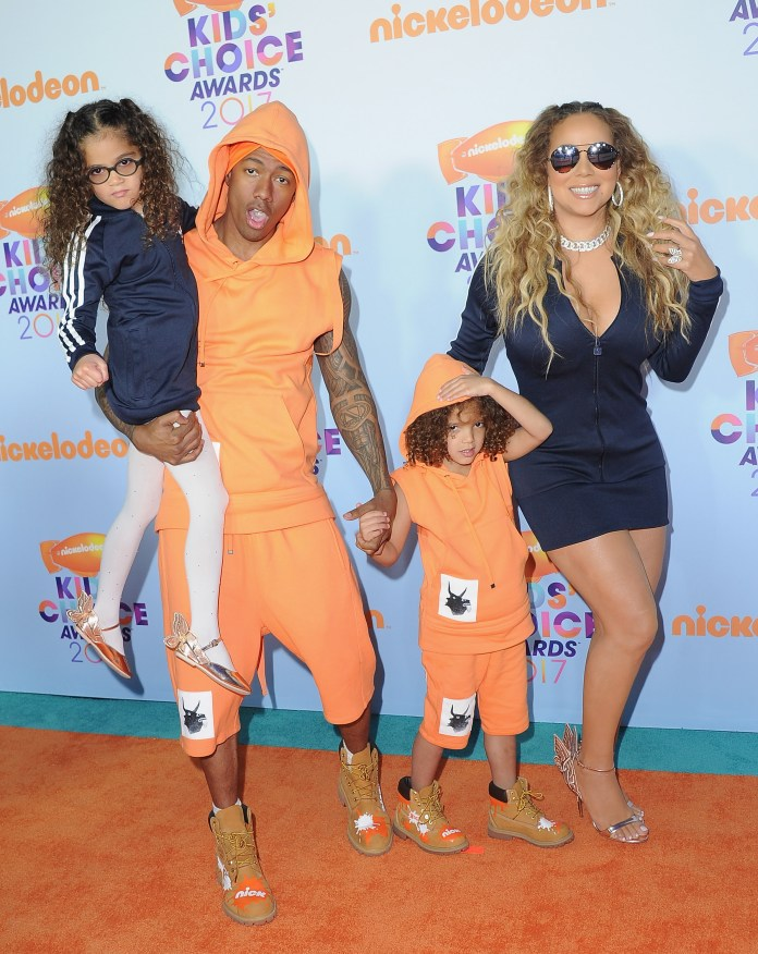 Nick and Mariah share fraternal twins together