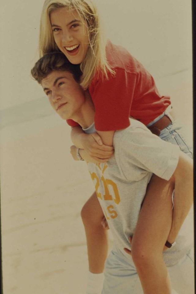 Tori Spelling and Brian Austin Green