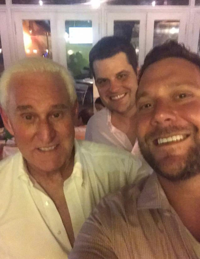 Gaetz and Joel Greenberg with Roger Stone