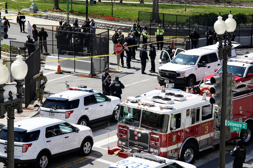 All Capitol buildings were locked down 'due to an external threat'