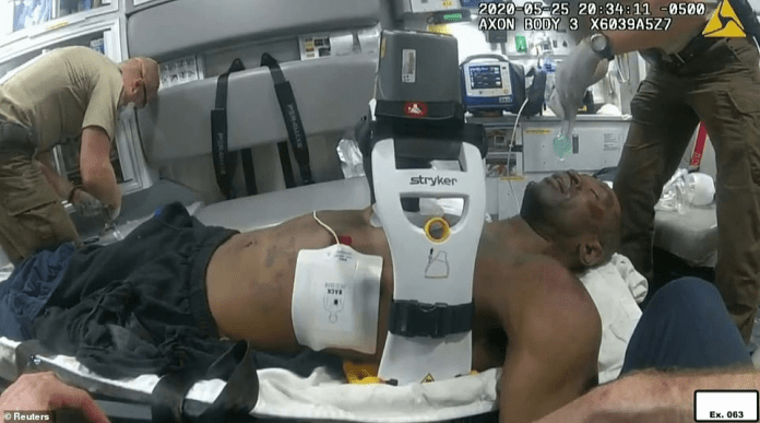 New bodycam footage shows George Floyd flatling in the back of an ambulance on his way to Hennepin Medical Center