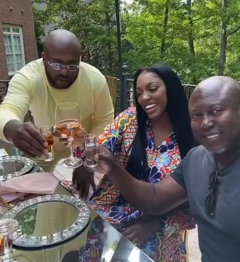 Porsha announced she is engaged to her friend's estranged husband this week