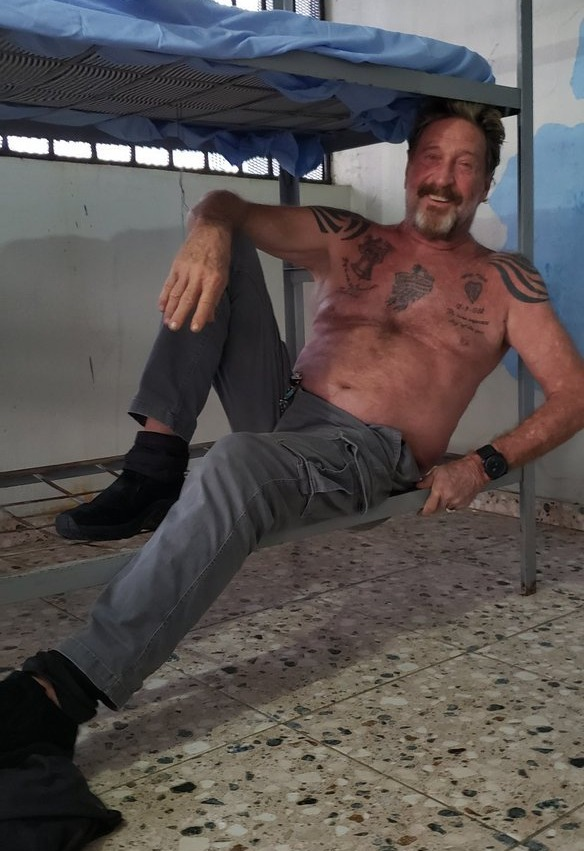 McAfee was found dead in his jail cell on Wednesday