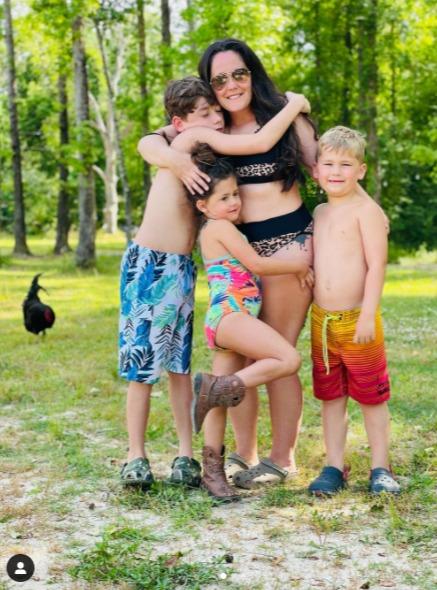 She is mom to three kids