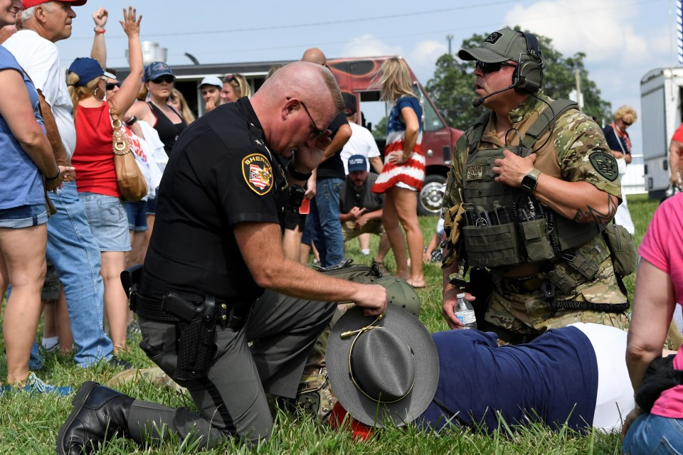 Trump supporter requires medical attention at Saturday's rally