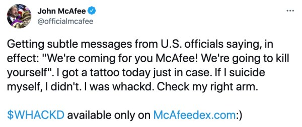 He also accused US officials of targeting him in a tweet.