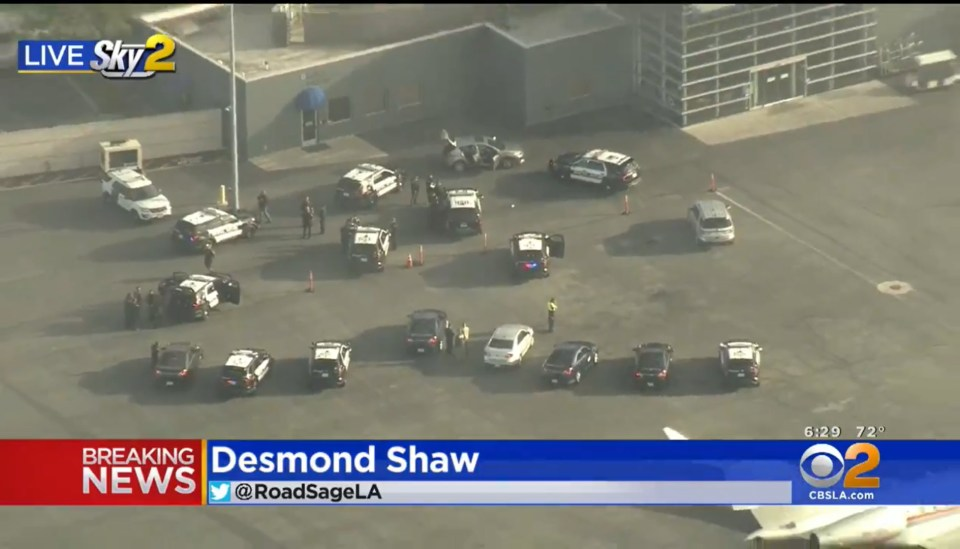 A car broke through a gate at LAX leading cops on a chase