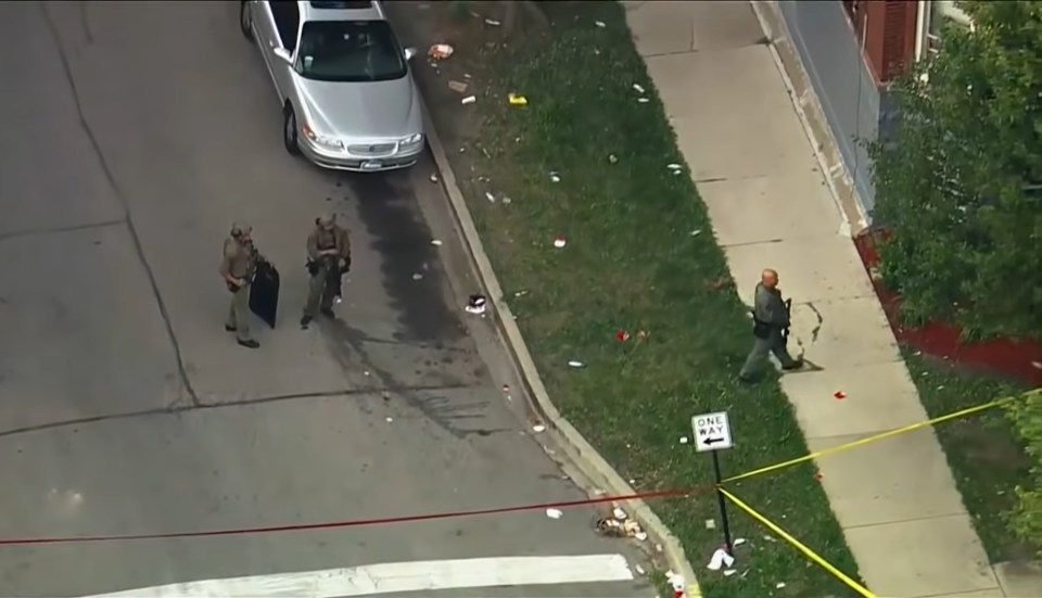 The shootings were within three blocks of each other