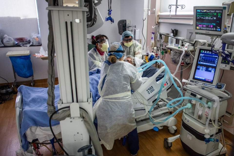 Hospitals are reaching levels like they were during the beginning of the pandemic