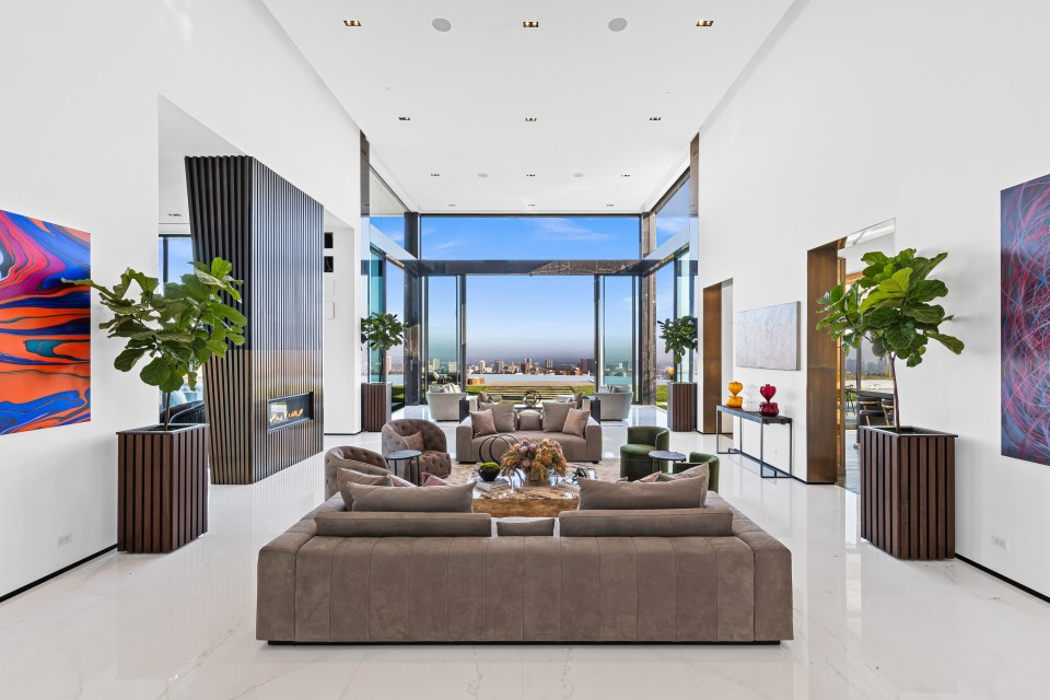 The home has incredible views of Los Angeles, stretching from San Gabriel Mountains to the Channel Islands
