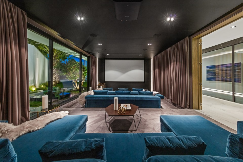 The property also includes a large theatre space