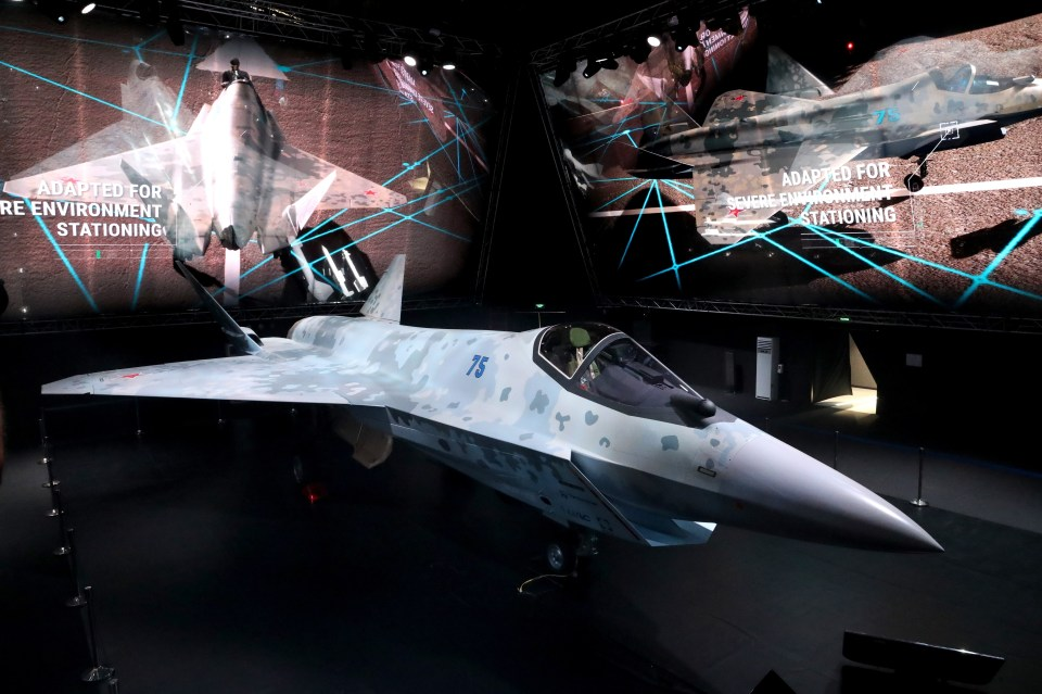 Russia continues to showcase its military might as it develops stealth fighter jets such as the Sukhoi LTS Checkmate