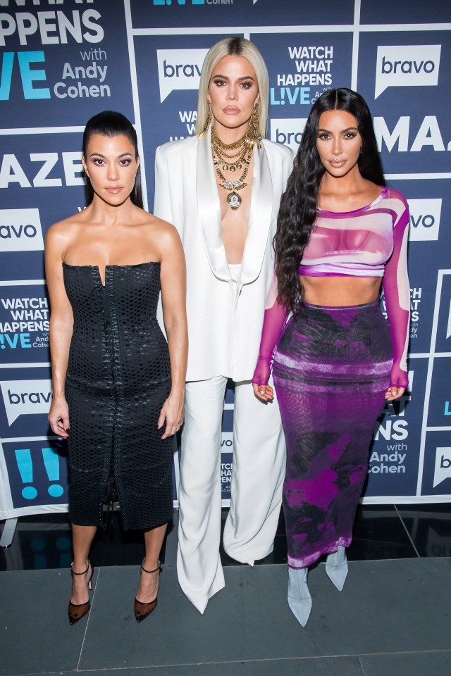 Kourtney, Khloe and Kim are seen here in 2019