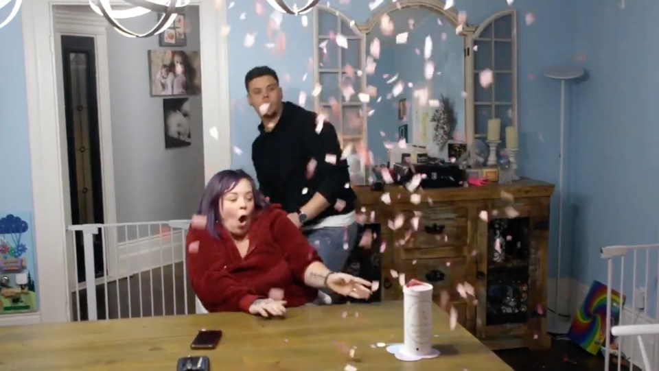 Catelynn and Tyler looked in shock as the small device exploded