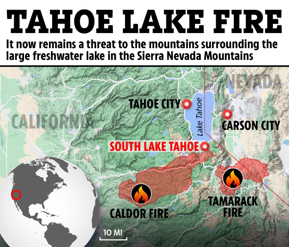 Find a map of wildfires in california here. Lake Tahoe Fire Map Update Residents Refuse To Evacuate Because There S Nowhere To Go As Pics Show Blaze Closing In