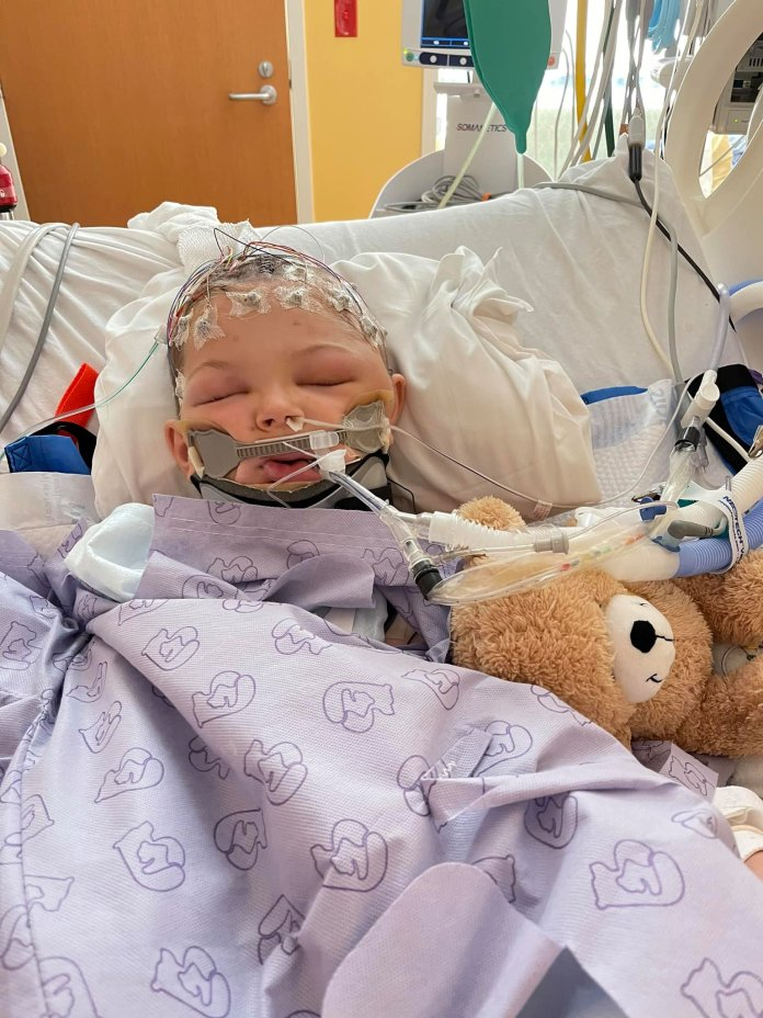 A fundraiser has been set up to pay for Alex's medical bills.