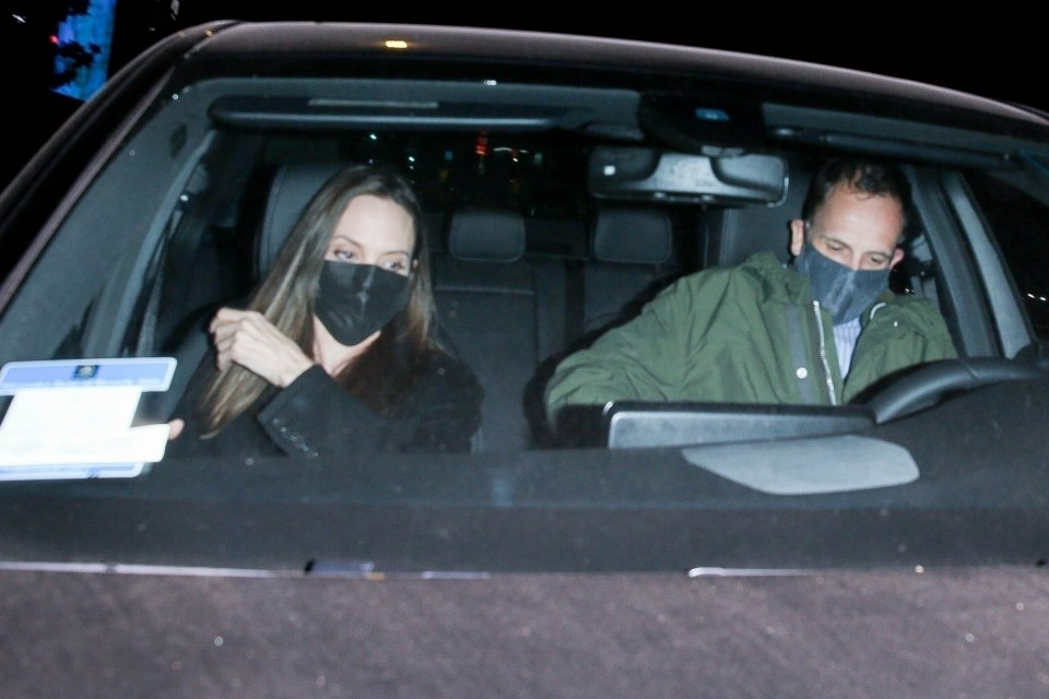 Angelina Jolie and Jonny Lee Miller had dinner together in Beverly Hills on Monday night