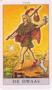 De Dwaas Tarot kaart nul van de grote Arcana