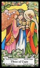 betekenis tarotkaart Bekers Drie