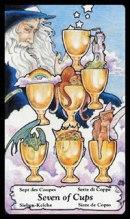 betekenis tarotkaart Bekers Zeven