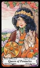 Tarotkaart Pentakels Koningin