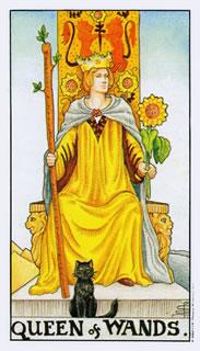 de betekenis van de staven koningin in het kaartleggen met de Tarot