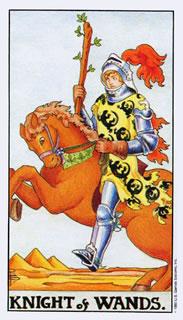 betekenis van de tarotkaart staven ridder in het kaartleggen met de tarot