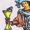 de betekenis van de vissen op de tarotkaart bekers schildknaap