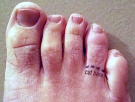 foot or toe?