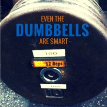 even the dumbbells are smart.