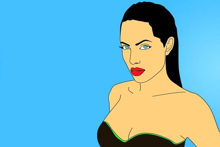 Angelina Jolie and Christine Quinn