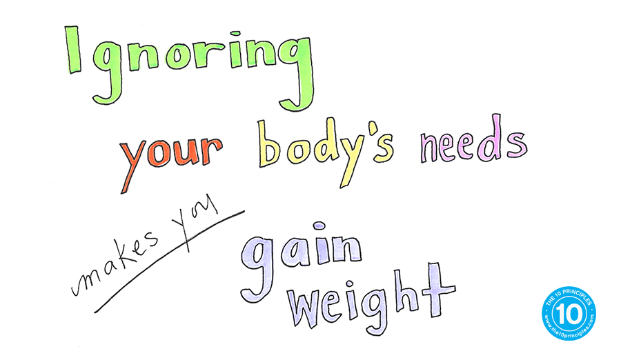 hungry to lose weight - ignoring your bodies needs makes you gain weight