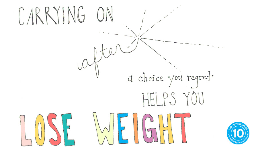 Carrying on after a choice you regret helps you LOSE WEIGHT