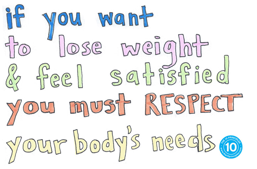 If you want to lose weight and feel satisfied you MUST respect your body's needs