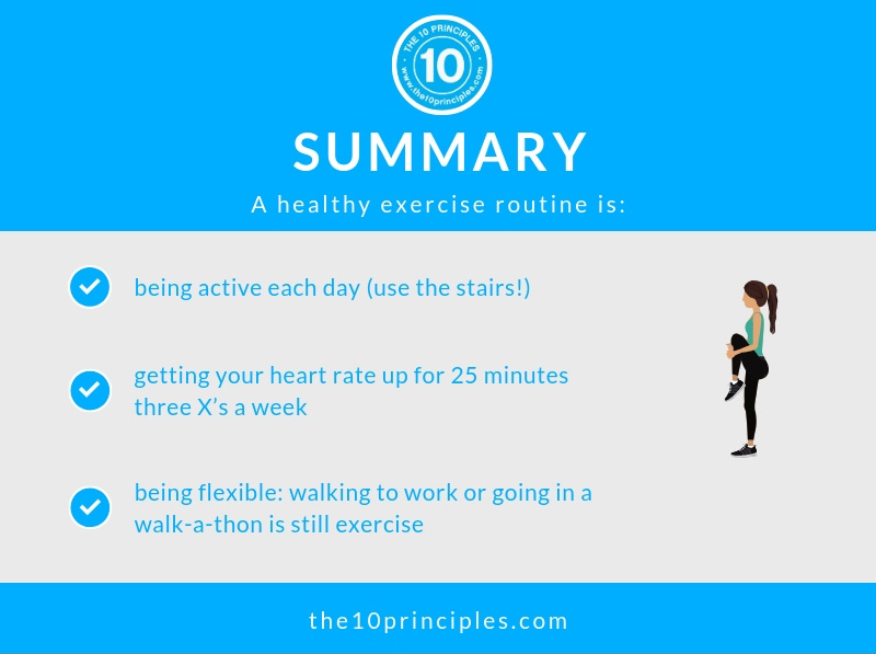 Summary - An OBSESSIVE exercise routine won't help you lose weight