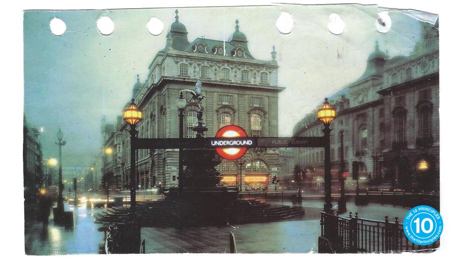 exercise routine - London postcard