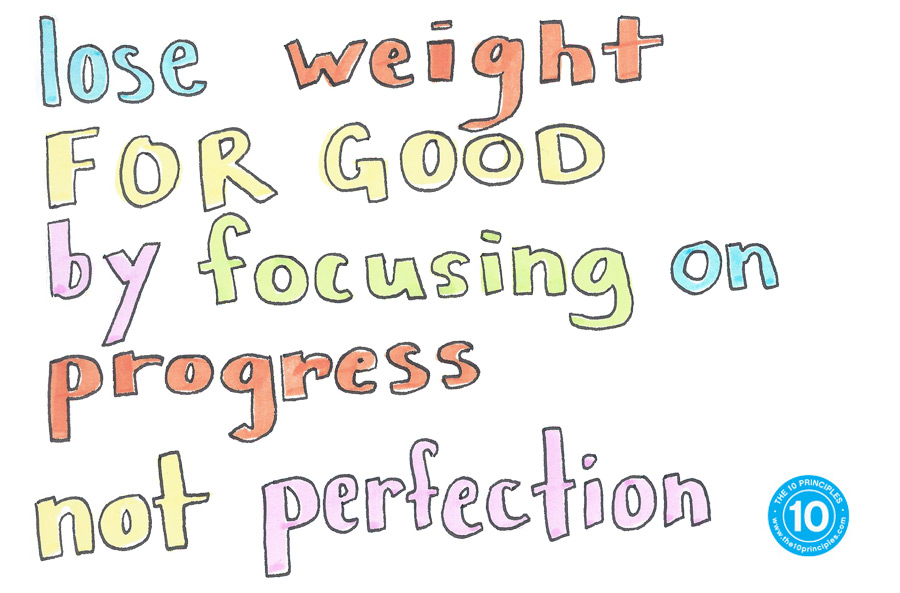 Lose weight FOR GOOD by focusing on progress, not perfection