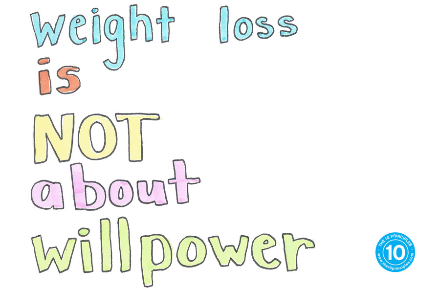 Weight loss is NOT about willpower