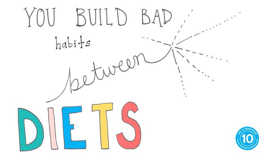 You build bad habits BETWEEN diets
