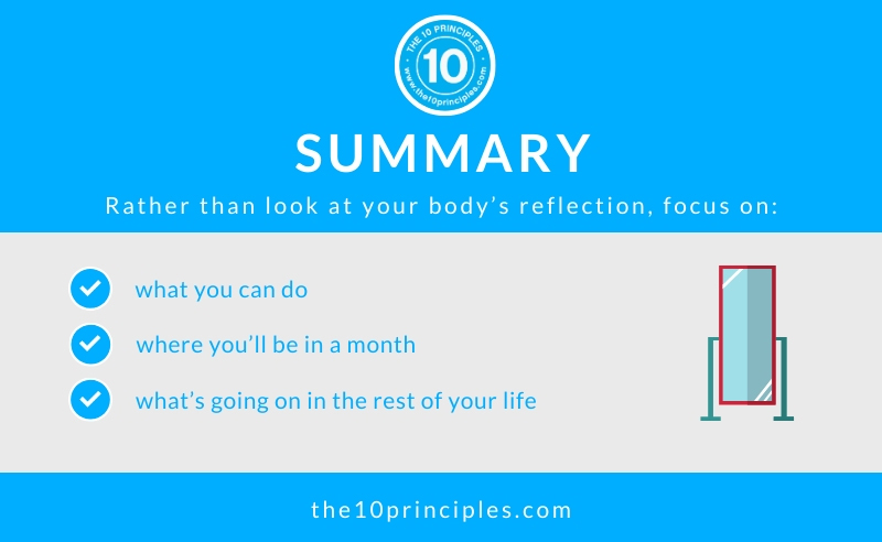 Lose weight when you STOP checking yourself out - Summary