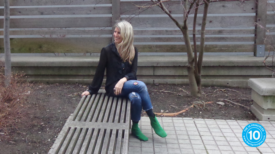 Kelly and her green shoes!
