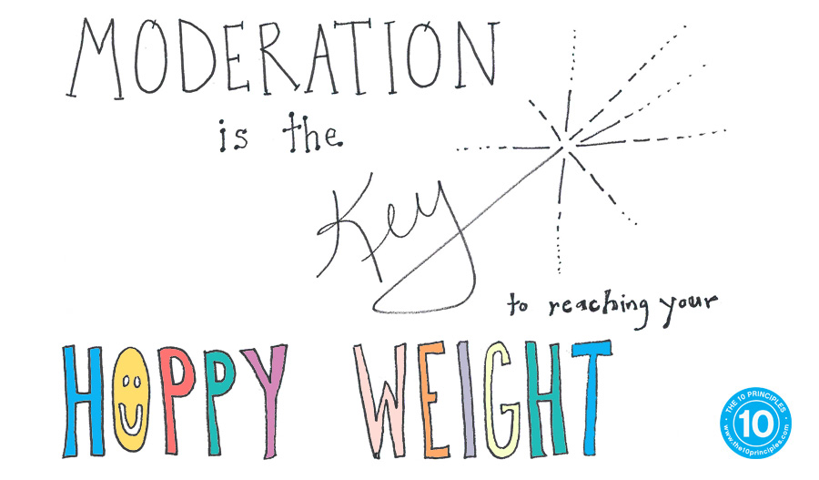 Moderation is the key to reaching your happy weight
