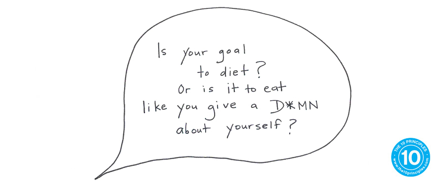 Emotional Eating - Is your goal to diet or is it to eat like you give a d*mn about yourself?