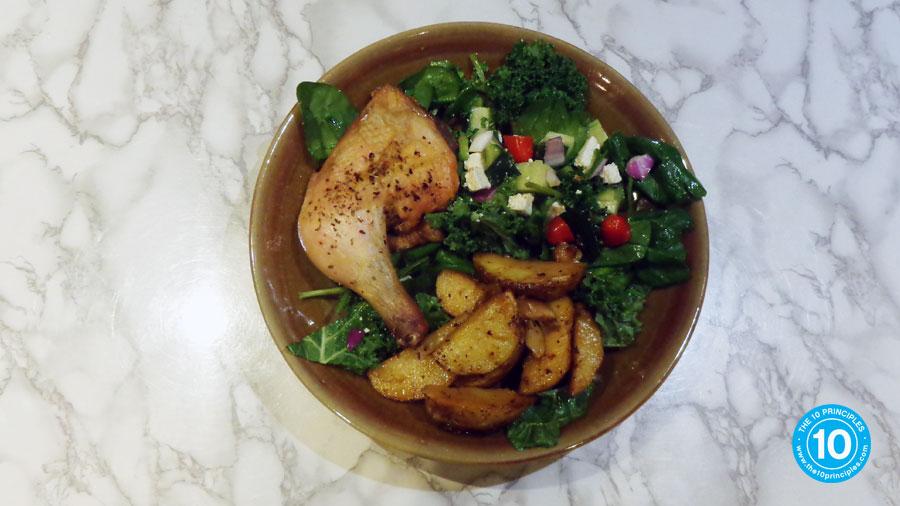 Lemon Potato full Greek Dinner