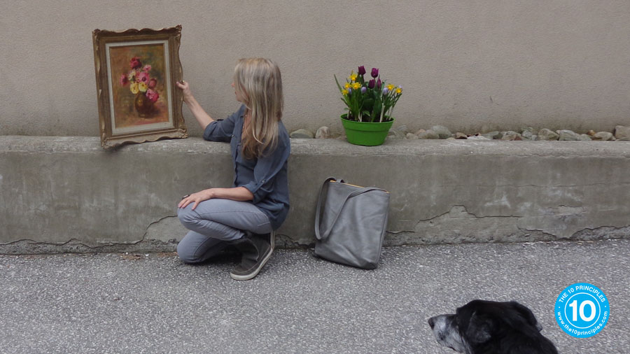 Here's a picture she painted