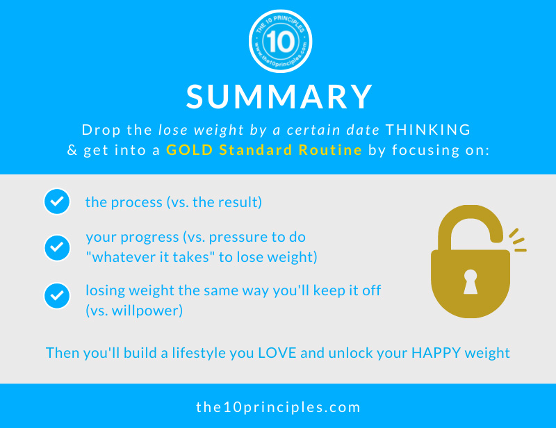 I need to lose weight before my wedding - summary